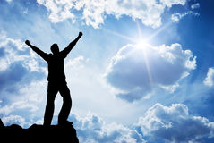 Worship to God. Element of design Royalty Free Stock Photography