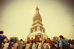 Worship to Phra Thatphanom Royalty Free Stock Photos