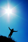 Worship to sun. Element of design Stock Image