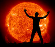 Worship to Sun. Element of design Royalty Free Stock Photo