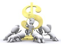 Worship Wealth. A 3D illustration of road to wealth or financial growth royalty free illustration