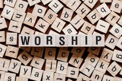Worship word concept royalty free stock image