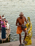 Worshiper on Ganga river Royalty Free Stock Photography