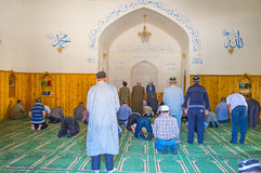 The worshipers in Mosque royalty free stock image