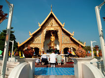 Worshiping Buddha, Thailand Royalty Free Stock Image