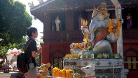 Worshiping Ganesha Στοκ Εικόνες