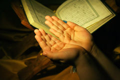 Worshiping hands pray Royalty Free Stock Photos
