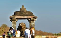 Worshiping Nandi royalty-vrije stock fotografie