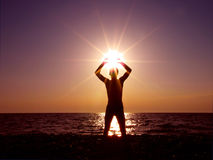 Worshiping the sun Stock Image