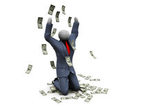 Worshiping to money Royalty Free Stock Images
