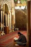 Worshipper bij de Moskee van al-Ibrahimi van Hebron royalty-vrije stock foto's