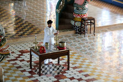 Worshipper in Cao Dai Temple in Vietnam Stock Photography