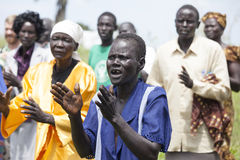 Worshippers in South Sudan Royalty Free Stock Image
