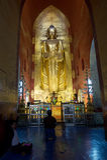 Worshipping in Bagan Stock Photo