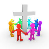 Worshipping Together Stock Image