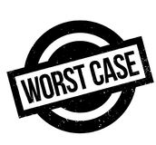 Worst Case rubber stamp Stock Image