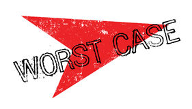 Worst Case rubber stamp Royalty Free Stock Images
