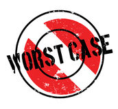 Worst Case rubber stamp. Grunge design with dust scratches. Effects can be easily removed for a clean, crisp look. Color is easily changed Royalty Free Stock Photography