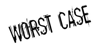 Worst Case rubber stamp Royalty Free Stock Image
