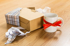 Worst christmas gift, cup Royalty Free Stock Images