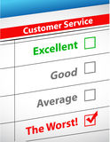 The worst customer service illustration Royalty Free Stock Photo