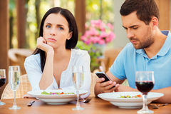 This is the worst date ever. Stock Photography
