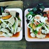 worst en vleessalade & x28; thaifood& x29; royalty-vrije stock foto