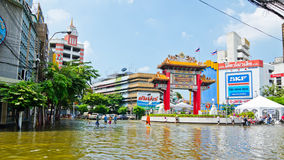 The worst flooding in Bangkok's Chinatown Stock Photography