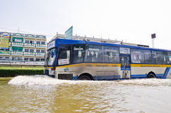 The worst flooding in  Nakhon Pathom, Thailand Royalty Free Stock Images