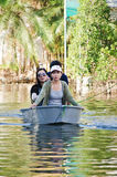 The worst flooding in  Nakhon Pathom, Thailand Stock Photo