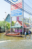 The worst flooding in  Nakhon Pathom, Thailand Stock Images