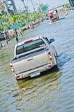 The worst flooding in  Nakhon Pathom, Thailand Royalty Free Stock Photos