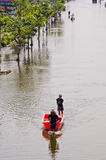 The worst flooding in  Nakhon Pathom, Thailand Stock Photography
