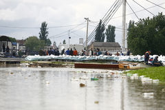 Worst flooding on record across the Balkans in Serbia Royalty Free Stock Images