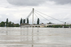 Worst flooding on record across the Balkans in Serbia Royalty Free Stock Photos