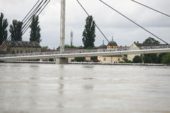 Worst flooding on record across the Balkans in Serbia Royalty Free Stock Photo