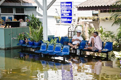 The worst flooding in Thailand Stock Photo
