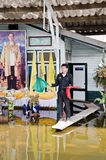 The worst flooding in Thailand Royalty Free Stock Photography