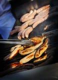 Worst op de grill Stock Foto's