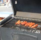 Worst op de grill Stock Foto