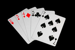 Worst poker hand Royalty Free Stock Photos