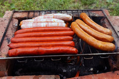 Worsten op barbecue Stock Fotografie