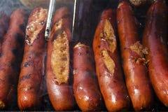 Worsten op barbecue Royalty-vrije Stock Afbeelding