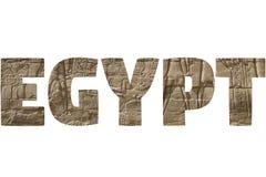 Wort ÄGYPTEN über symbolischen Plätzen Lizenzfreie Stockfotos