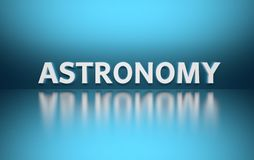 Wort-Astronomie stock abbildung