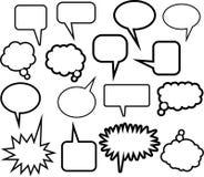 Wort-Ballon-Ikonen Stockfotos