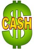 Wort-Bargeld mit Dollar-Zeichen Lizenzfreies Stockfoto