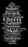 Wort-Beifall in den verschiedenen Sprachen lizenzfreie abbildung