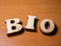Wort Bio Lizenzfreies Stockbild