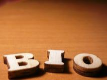 Wort Bio Stockfotos